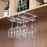 Au Wine Holder Cup, Maison-Rouge Style Verre à vin Maison Upside Down, Bar à vin Suspendu Suspendu Porte-gobelet Solide et Durable/Brok / 8 Machines à sous WTZ012 (Color : White, Size : 3 Slots)