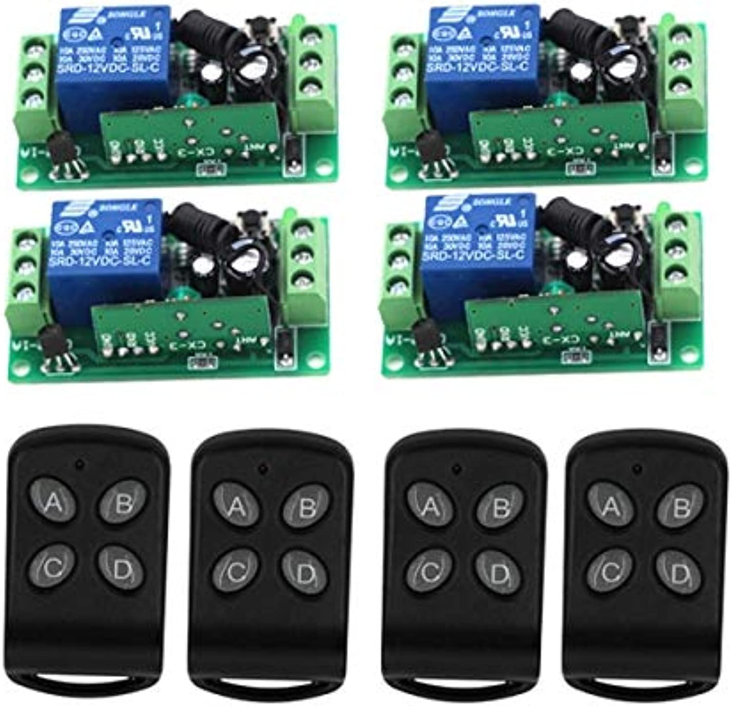 MITI-315Mhz DC12V 1CH RF Wireless Remote Control Switch 10A Relay Receiver Radio Switch SKU  5153