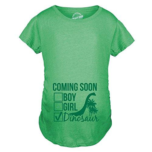 Maternity Coming Soon: Dinosaur Pregnancy Tshirt Funny...