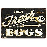 オリジナルのレトロなデザインの新鮮な卵の錫の金属の印の壁の装飾| キッチン/ファームの厚いブリキプリントポスター壁アート