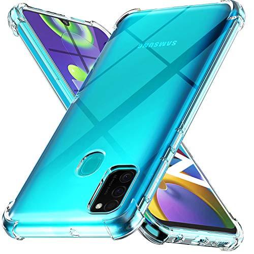 Ferilinso Hülle für Samsung Galaxy M30S, M21 [Kompatibel mit Panzerglas Schutzfolie] [Klar Silikon Handy Hüllen] [Stoßfest Kratzfest ] [Shock Absorption Schutzhülle] [Bumper Crystal] (Transparent)