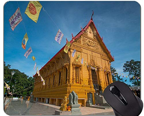 Rutschfeste Gummi Gaming Mouse Pad, messen Zitat Religion Buddha Statue Office Mouse Pad