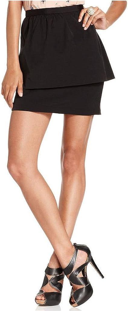 bar III $69 Womens New 5006 Black Knee Length Peplum Casual Skirt L B+B
