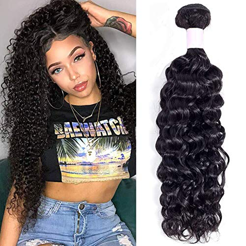 9A Brazilian Curly Hair 1 Bundle Human Hair Weave (10 Inch) 100% Unprocessed Virgin Brazilian Kinky Curly Hair Bundles 100g/pc Natural Black Color …