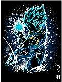 ZENGXIAOYUN Póster De Anime Japonés, Póster De Pintura Artística, Póster De Anime De Goku, Sala De Estar, Decoración del Hogar, 50 * 70 Cm, Resistente Al Agua Y Duradero, Sin Marco, Póster De Lienzo