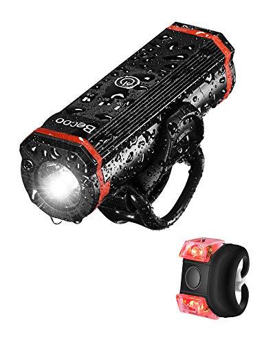 自転車 ライト 充電式 LED 1000ルーメン 高輝度 2600mAh 5つ 照明モード USB充電式 高輝度連続点灯4h 自転車ヘッドライト 大容量 IPX5 防水 防振 電池残量インジケーター テールライト付き アルミ合金製 ロードバイク クロスバイク ライトサイクリング アウトドア 懐中電灯 山登り/遠足/夜釣/防災/キャンプ 多用途 取り付け簡単 日本語説明書付き PSE認証済 12ヶ月安心保証