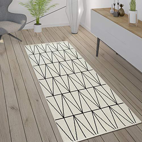 Paco Home Alfombra Interior Exterior Terraza Balcón Intemperie Estilo Escandinavo, tamaño:80x150 cm, Color:Blanco