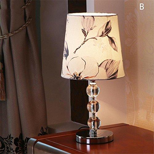 Jack Mall Semplice moderna di cristallo di modo creativo Desk Lamp Lampada da comodino camera da letto (Colore : B)