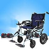 LOLRGV Beweglicher Faltbarer intelligenter elektrischer Rollstuhl Leichte Aluminiumlegierung motorisierte Elektrorollstühle mit justierbarem Handlauf,Singlecontrol -