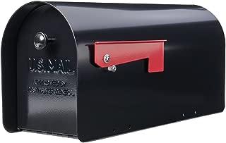 Gibraltar TB1B0000 Tuff Body Galvanized Steel Post-Mount Mailbox,10 x 7.5 x 20.75-Inches,Black