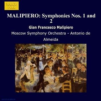 Malipiero: Symphonies Nos. 1 and 2