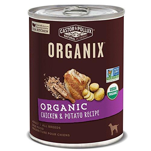 Castor & Pollux Organix Organic Chicken & Potato Recipe Adult Canned Dog Food, (12) 12..7oz cans