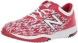 New Balance Men's 4040 V5 Turf Baseball Shoe, Red/White, 8.5 M US