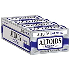 Contains eight 8 1.2ounce tins of ALTOIDS Arctic Peppermint Breath Mints Freshen breath with curiously cool sugarfree mints Great for keeping in your bag car or at your desk ALTOIDS Arctic Mints are packed with iconic peppermint flavor Each standup t...