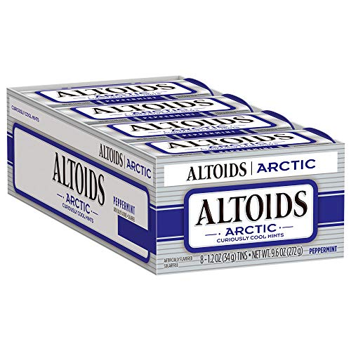 ALTOIDS Arctic Peppermint Mints 12Ounce Tin Pack of 8