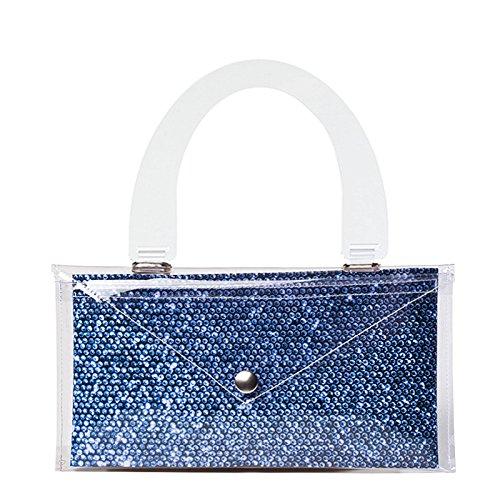 Bi-Bag - Cartera de mano con asa para mujer Azul azul