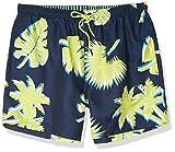 Hugo Boss BOSS Men's Swim Trunks, Indigo Palm Tree, M