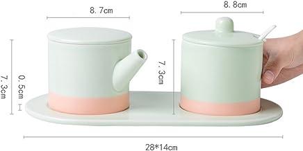 GAYY Würzflasche Keramik Gewürz Tank Set Multifunktionale Haushalt Haushalt Haushalt Aroma Topf Puzzle Tank Set (3 Assemblies),Grün B076DBLF49 | Neues Produkt  6a4b28
