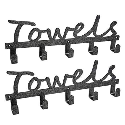 Qualward Handtuchhalter 5 Haken Wandmontage rostfrei und wasserdicht Handtuchhalter...