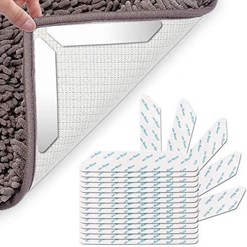 Vegena Teppichunterleger rutschfest Teppichunterlage,20 Stück Antirutschmatte für Teppich,Wiederverwendbar Rugs Anti Rutsch Pads,Starke Klebrigkeit Rutschfester Teppich