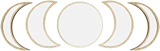 Portonss Decorative Mirror,3/5 Pcs Nordic Style Wooden Decorative Mirror Moon Phase Acrylic for Bedroom