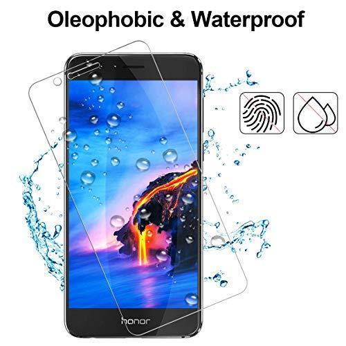 NONZERS Panzerglas Schutzfolie für Huawei Honor 8,Honor 8 Panzerglasfolie 9H Härtegrad, Anti-Öl, Kratzer,Staub, Blasen und Anti-Fingerabdruck, Displaychutzfolie für Huawei Honor 8 - 3