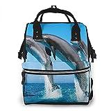 Travel Bags,Zaino Per Bambini Dolphin Jump High Diaper Bag Per Palestra Da Viaggio 40cm(H) x18(W) cm