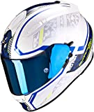 Scorpion Casco de moto NC EXO-510 AIR Occulta Pearl White-Blue, Blanco/Azul, M
