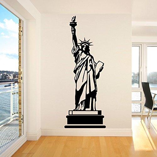 Tianpengyuanshuai standbeeld van de Vrijheid Amerika Amerika muursticker zwart lijm soort muursticker creatieve lijm zwart Art Deco 57 x 155 cm