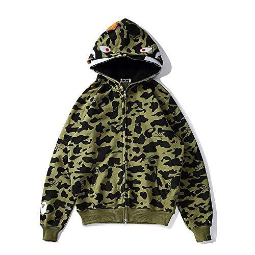 Bape - Sudadera con capucha y capucha para hombre y mujer, color verde, talla XL