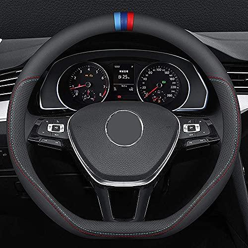 Carodi Funda para volante de coche de piel de napa, elegante antideslizante...
