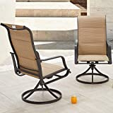 Romayard 2 PCS Bistro Bar Stools Swivel Outdoor Chairs Patio Dining Chair Metal Patio Furniture