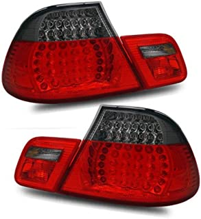 SPPC 2 Door L.E.D Taillights Red/Smoke 4 pieces Assembly Set For BMW 3 Series E46 - (Pair) Driver Left and Passenger Right Side Replacement