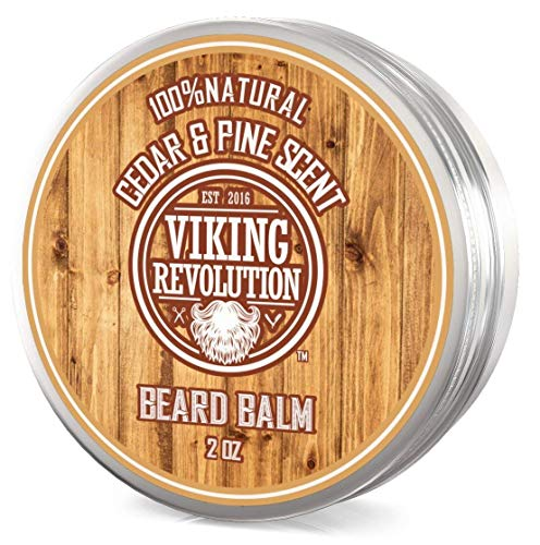 Price comparison product image Beard Balm Cedar & Pine Scent w / Argan & Jojoba Oils - Styles,  Strengthens & Softens Beards & Mustaches - Leave in Conditioner Wax for Men by Viking Revolution â¦