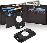 Aimtel Paquete de 2 fundas tipo cartera compatible con Apple Airtag Wallet Case Air Tag Wallet Card Air Tags Case Titular de la tarjeta para bolso, bolso, efectivo, tarjeta de crédito