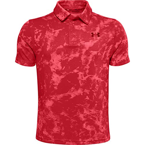 Under Armour Boys' Playoff Golf Polo , Versa Red (608)/Black , Youth Medium