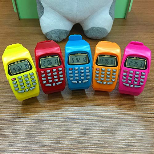 DishyKooker Elektronischer Taschenrechner Uhr Spezialrechner Multifunktionsrechner für die Grundschule Blau articulos de producto