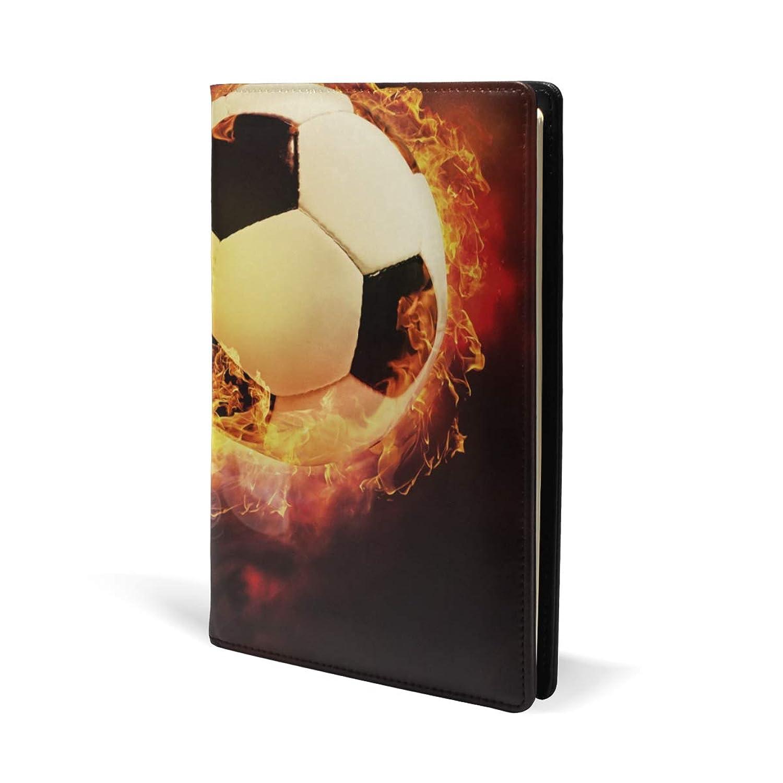 ブックカバー a5 サッカー 火 きれい 文庫 PUレザー ファイル オフィス用品 読書 文庫判 資料 日記 収納入れ 高級感 耐久性 雑貨 プレゼント 機能性 耐久性 軽量