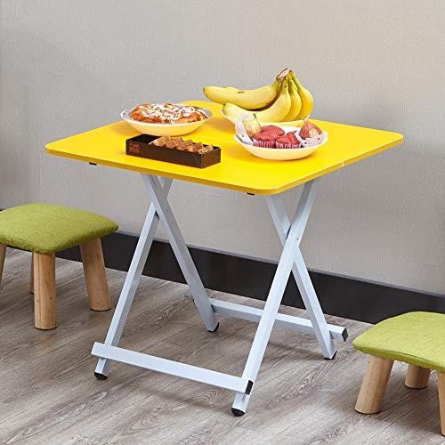 YY&L Table De Pliage Portable Pliante Multifonctionnelle - Table De Camping pour Dîner en Plein Air pour Fête De Pique-Nique en Plein Air,Yellow