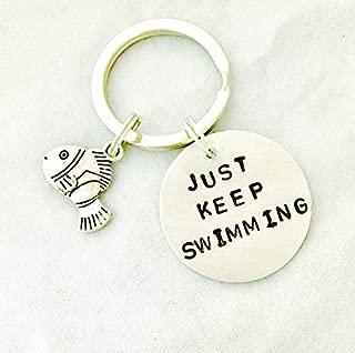 Just Keep Swimming Key Chain, Finding Nemo Key Chain
