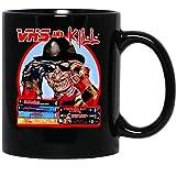 Seeds Tee VHS and Kill Slasher Freddy Krueger 80s A Nightmare On Elm Street Horror Pop Mug Cup Coffee Mugs Cups Tea (11 Oz)