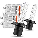 Chemini Kit HID de conversión de xenón H7, balastos delgados de inicio rápido de 80 W para bombillas de faros delanteros de coche, 6000 K, garantía blanca de 1 año