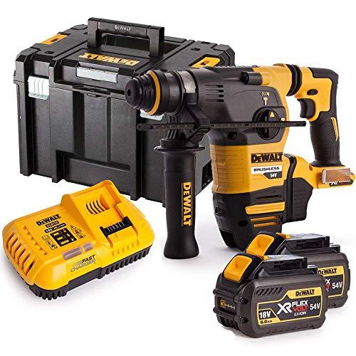 Dewalt DCH333N 54V XR Brushless Flexvolt 3 Mode SDS+ Hammer Drill with 2 x 6Ah Batteries, Charger & Case