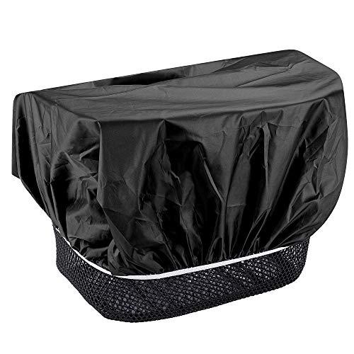 EAZY CASE Fahrradkorb Regenschutz, wasserfester Korbüberzug, Schutzhülle, Korbabdeckung wasserabweisend, Regenüberzug für Fahrradkorb elastisch, Schutzhaube für Regen, Schwarz