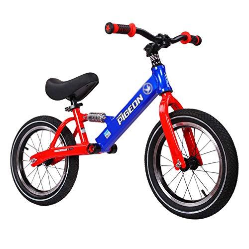 Bicicleta Sin Pedales Bici Bicicleta De Equilibrio De Aluminio Ligero Ruedas De 12/14 Pulgadas, Bicicleta para Caminar Sin Pedales para Niños, Principiantes, Niños Y Niñas, Niños De 3 A 10 Años