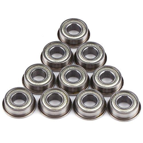 10 Stück F686ZZ Flanschen Radialkugellager Miniaturlager Metall Stahl Double Shielded Flanschkugellager 6 * 13 * 5mm