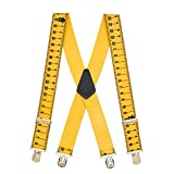 SuspenderStore Men's TAPE MEASURE 2-Inch Wide Pin Clip Suspenders