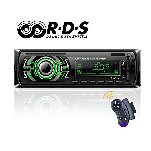 Autoradio Bluetooth, TOYOUSONIC Radio Universal para Coche FM/RDS Llamadas Manos Libres Car...