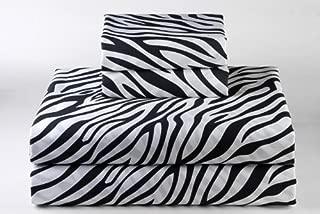 Zebra Print Queen Size Ultra Soft Natural 4 PCs Bed Sheet Set 16