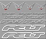 Ecoshirt DI-ESKR-4U2L Aufkleber Felt Bici R203 Stickers Aufkleber Decals Autocollants Adesivi, weiß